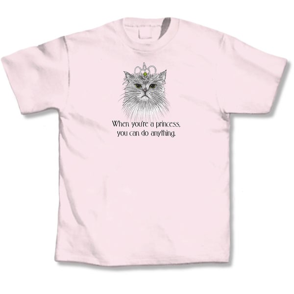 'When You Are A Princess You Can Do Anything' Cat Lovers T-Shirt
