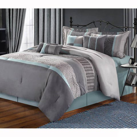 Copper Grove Minesing Embroidered 8-piece Comforter Set