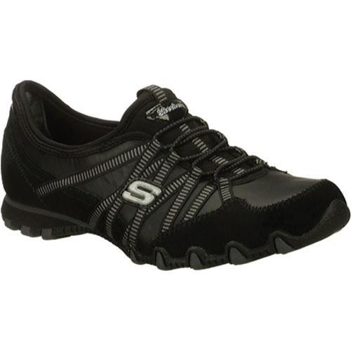Women's Skechers Bikers Dream Come True Black/Charcoal - Thumbnail 0