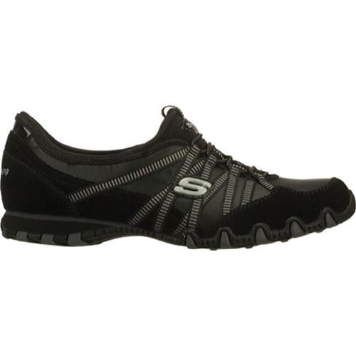 Women's Skechers Bikers Dream Come True Black/Charcoal - Thumbnail 1