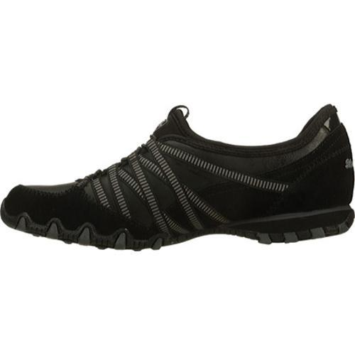 Women's Skechers Bikers Dream Come True Black/Charcoal - Thumbnail 2