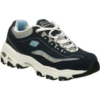 Women's D'Lites Centennial Navy/White Fabric Rubber Skechers