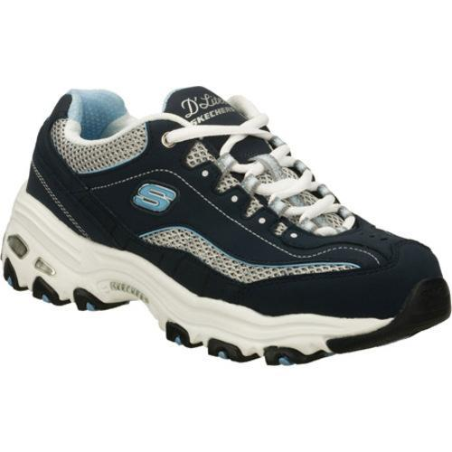 Women's D'Lites Centennial Navy/White Fabric Rubber Skechers - Free  Shipping Today - Overstock.com - 14838988