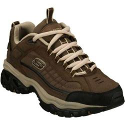Skechers Men's Energy Downforce Brown and Taupe Leather Sneakers