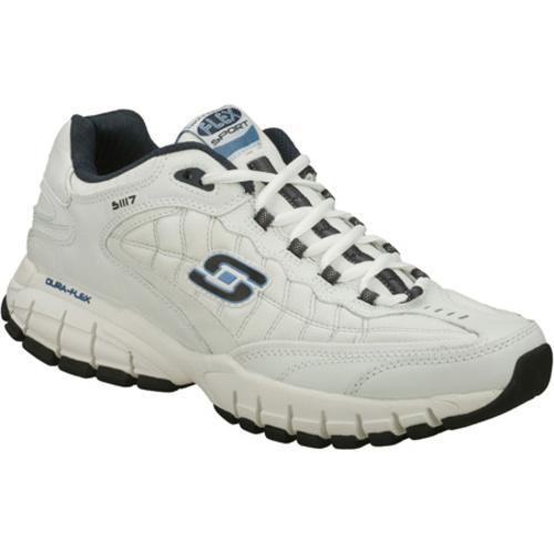 Men's Skechers Juke White/Navy - Thumbnail 0