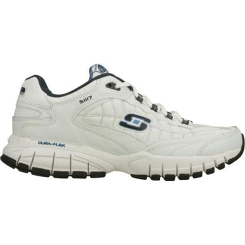 Men's Skechers Juke White/Navy - Thumbnail 1
