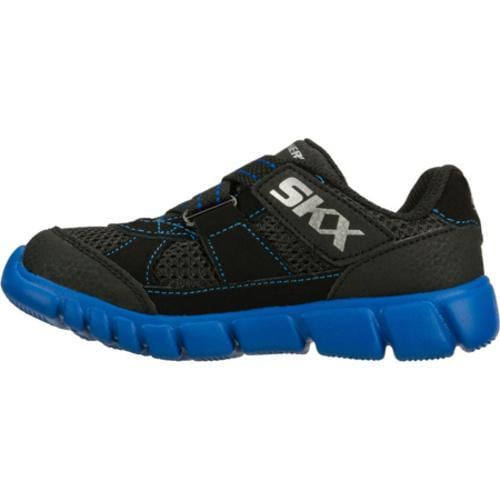 Boys' Skechers Mini Flex Mischiefs Black/Blue - Thumbnail 2