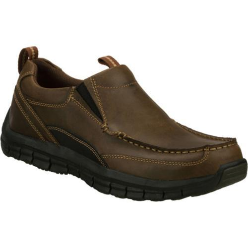 Men's Skechers Relaxed Fit Masen Leone Brown - Thumbnail 0