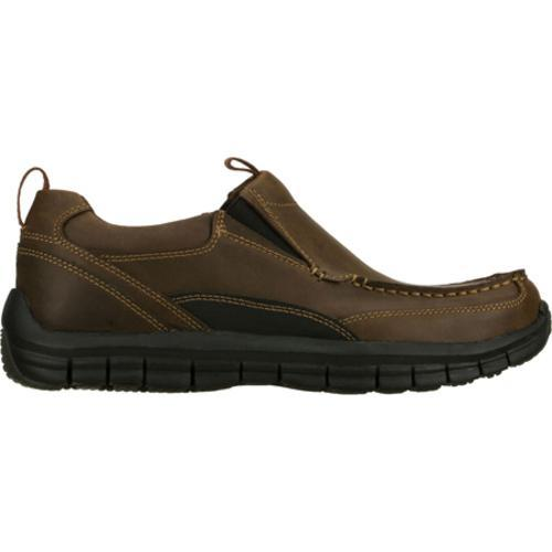 Men's Skechers Relaxed Fit Masen Leone Brown - Thumbnail 1