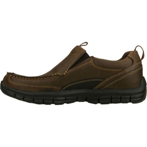 Men's Skechers Relaxed Fit Masen Leone Brown - Thumbnail 2