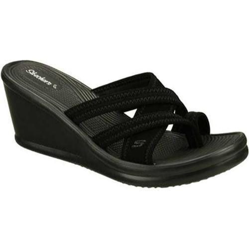 Women's Skechers Rumblers Beautiful People Black Sandals