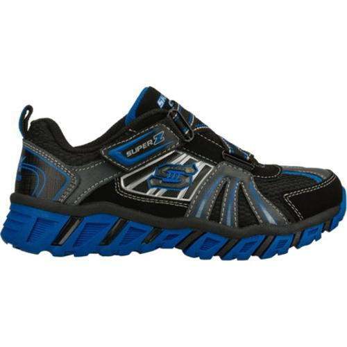 Boys' Skechers S Lights Pillar Black/Blue - Thumbnail 1