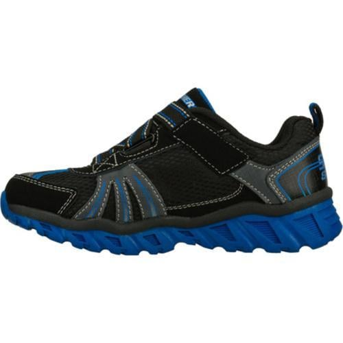 Boys' Skechers S Lights Pillar Black/Blue - Thumbnail 2