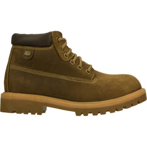 Men's Skechers Sergeants Verdict Brown Waterproof Oiled Nubuck - Thumbnail 1