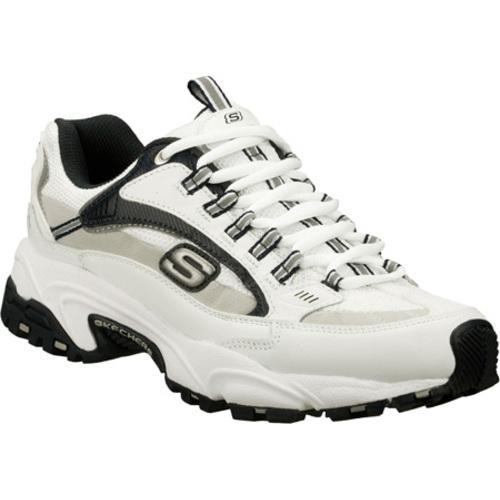 Men's Skechers Stamina Nuovo White/Navy/Grey - Thumbnail 0