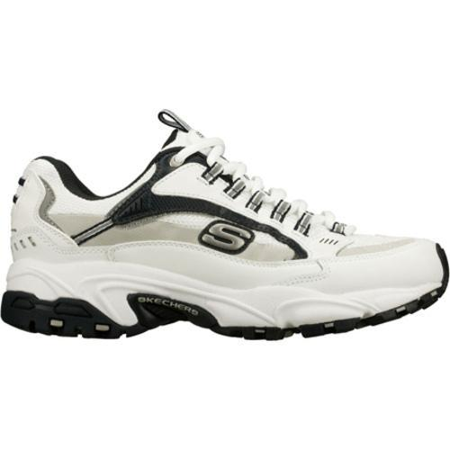Men's Skechers Stamina Nuovo White/Navy/Grey - Thumbnail 1