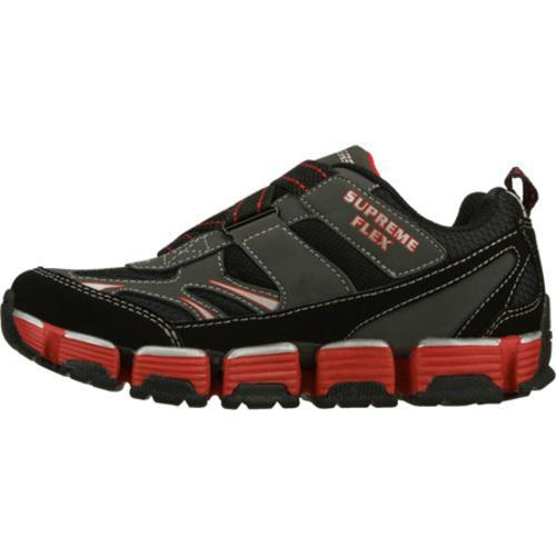 Boys' Skechers Supreme Flex Revert Black/Red - Thumbnail 2