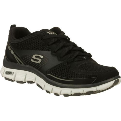 Women's Skechers Tone Ups Fitness Flex Black/White - Free ...