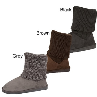 I-Comfort Women's Marble Sweater Boots