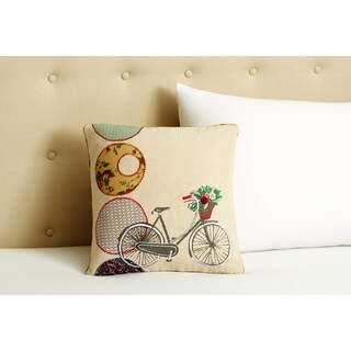 Cottage Home Bicycle Decorative Pillow