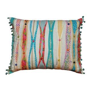 Cottage Home Ribbon Decorative Pillow