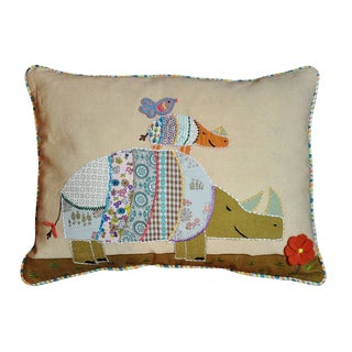 Cottage Home Rhino Decorative Throw Pillow