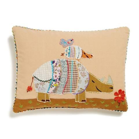 Cottage Home Rhino Cotton 12 x 16 Throw Pillow