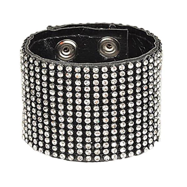 Rhinestone Retro Vintage Wide Cuff Bracelet