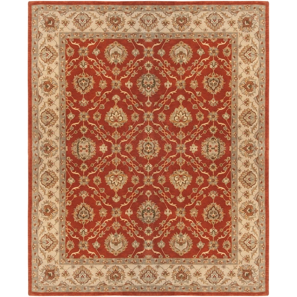Hand-tufted Cuney Semi-worsted New Zealand Wool Rug