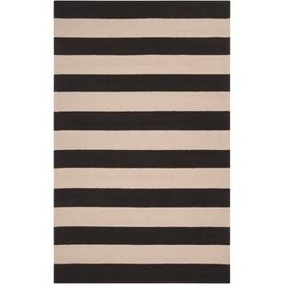 Hand-hooked Cowriga Indoor/Outdoor Stripe Rug