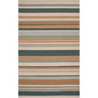 Hand-hooked Cottonwood Indoor/Outdoor Stripe Rug
