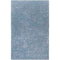Hand-knotted Bryson Abstract Design Wool Rug - 2' x 3'