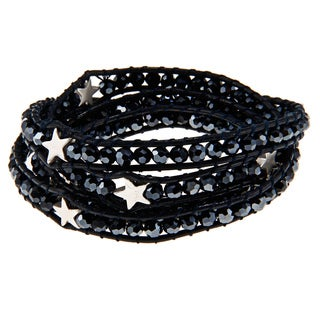 Blue Star-embellished Wrap Bracelet