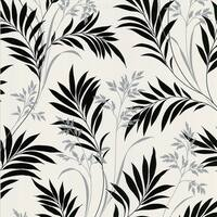 Brewster Black and White Leaves Wallpaper
