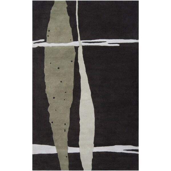 Noah Packard Desing Hand-tufted Briar Abstract Plush Wool Rug