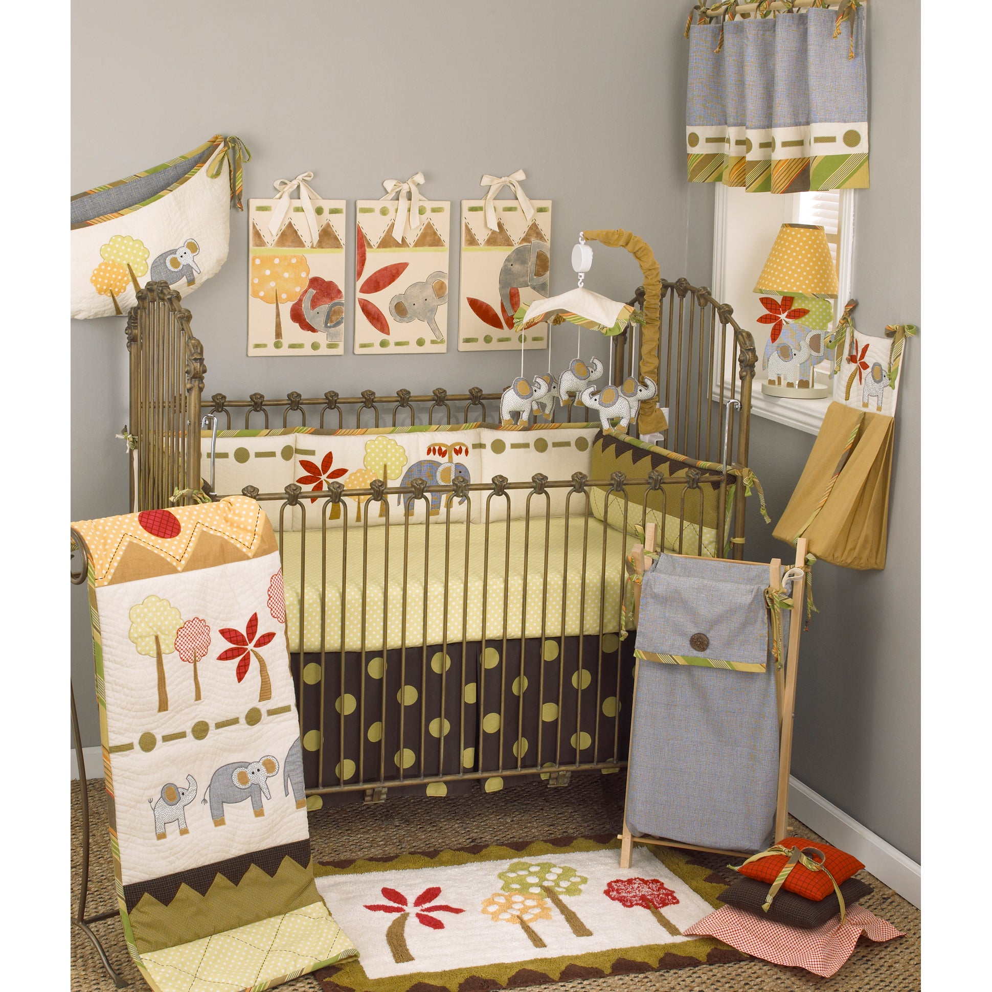 Cotton Tale Elephant Brigade 8-piece Crib Bedding Set (Co...
