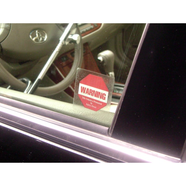 The Club Vehicle Anti-theft Security Decals