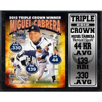 Miguel Cabrera Triple Crown Stat Plaque (12 x 15)