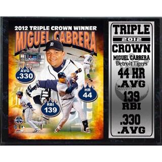 Miguel Cabrera Triple Crown Stat Plaque (12 x 15)