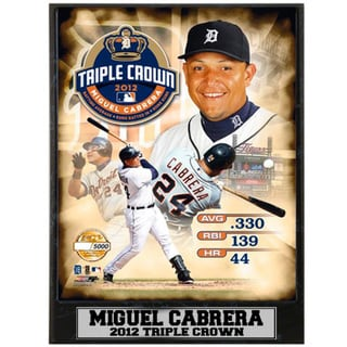 Miguel Cabrera Triple Crown Photo Plaque (9 x 12)