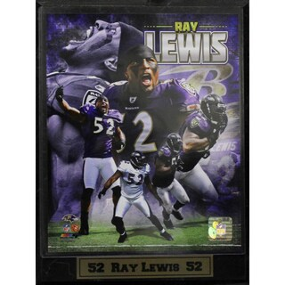 Baltimore Ravens Ray Lewis Photo Plaque (9 x 12)