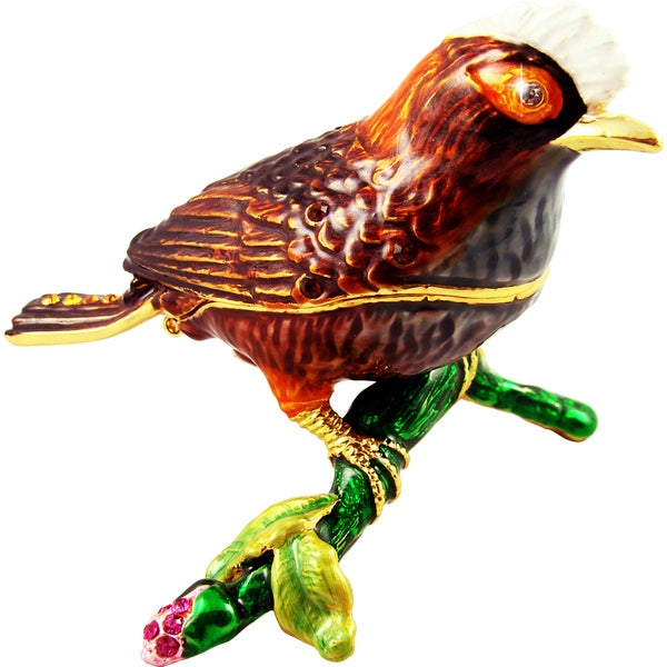 Objet d'art 'The Akohekohe Bird' Trinket Box