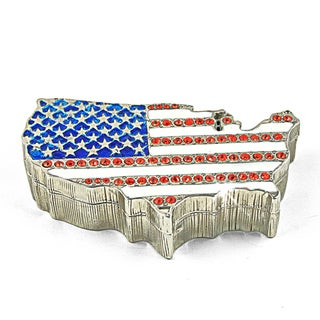 Objet d'art 'America The Beautiful' USA Map Trinket Box