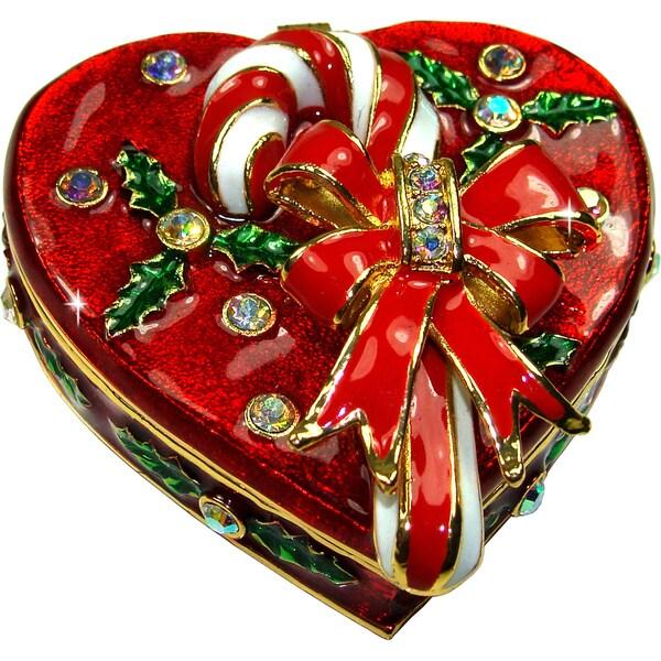 Objet d'art 'Holiday Sweet' Heart Trinket Box