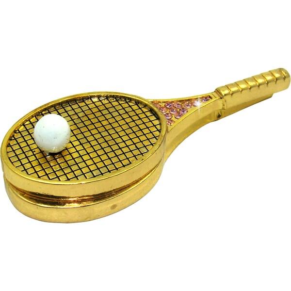 Objet d'art 'Tennis Anyone' Racquet and Ball Trinket Box