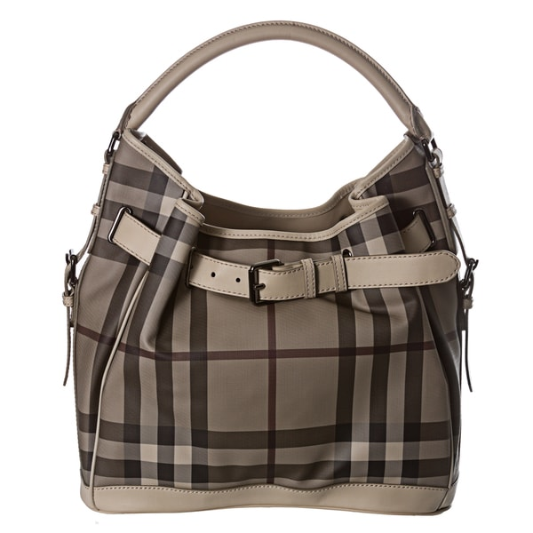 Burberry Medium Smoked Check Hobo
