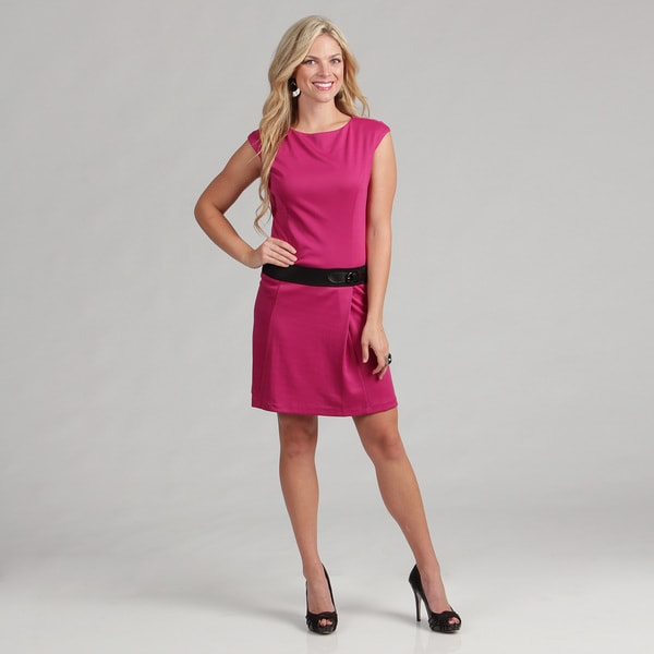London Times Women's Ponte Women's Dress