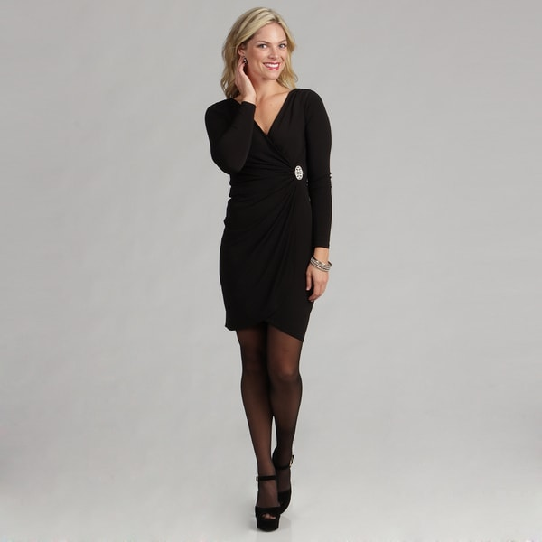 London Times Women's Cocktail Jersey Dress