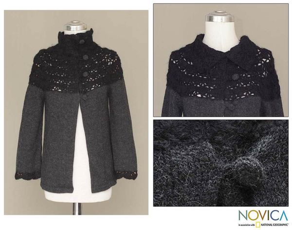Alpaca Wool 'Night Princess' Sweater (Peru)