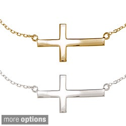 La Preciosa Sterling Silver Sideways Cross Bracelet